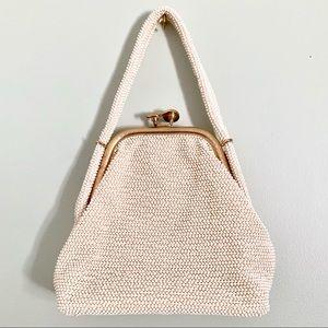 VTG Lumured 50s Frame Seed Bead Handbag 👛 😍